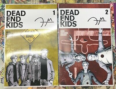 DEAD END KIDS #1-2 SIGNED BY WRITER FRANK GOGOL Source Point Press Hot Books