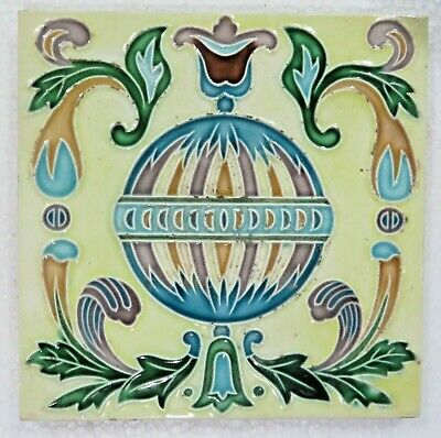 "6""x 6"" Ceramic Art Glazed porcelain Majolica tile Brick Qty1 collection Display"