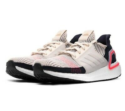 Adidas Ultraboost 19 Clear Brown White Chalk Pink B37705 Mens Running Shoes