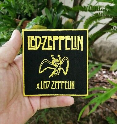 Led Zeppelin Band Music Logo Rock Wing Man Badge Embroidered Iron on Sew Patches