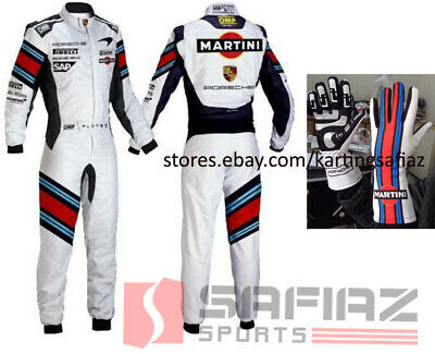 MARTINI GO KART RACING SUIT CIK FIA LEVEL 2 Sublimation Printing with Gloves