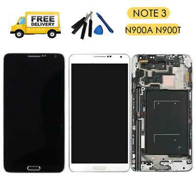 For Samsung Galaxy Note 3 N900A N900T LCD Digitizer Screen Touch Assembly +Frame