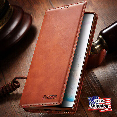 Leather Wallet Flip Card Holder Slot Cover Case For Samsung Galaxy Note 10 Plus