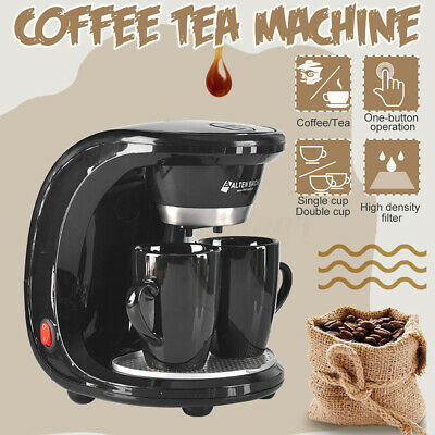 450W Household Drip Type Coffee Machine Filter Coffee Maker Pump Italy Latte UK