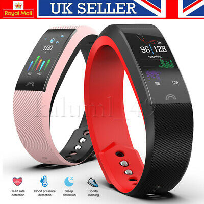 Smart Watch Fitness Tracker Heart Rate Blood Pressure Tempered Mirror Waterproof