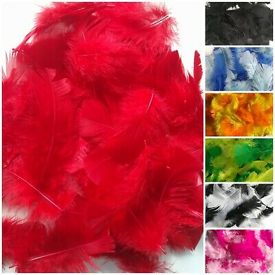 Pack of Feathers. Mixed Small Fluffy Colourful Craft Embellishments. Approx 8cm