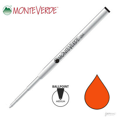 Monteverde M13 SoftRoll Ballpoint refill fit Montblanc Pens, Orange Medium