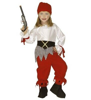 Pirate Faschingsköstüm Childrens Fancy Dress Girl, Size 110 cm, 3-4 Years