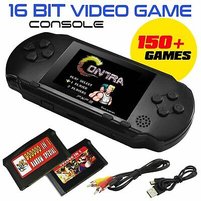 16Bit Portable PXP3 Retro Video Game Console Handheld 150+ Games 2 Free Cards