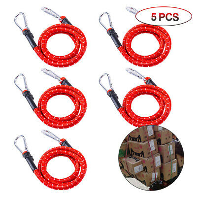 Heavy Duty Carry Bag Secure Bungee Cord 0.6/1/1.5M Luggage Strap with carabiner
