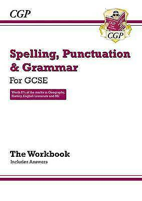 Spelling, Punctuation and Grammar for GCSE CGP Books- around 5 pages are filled.