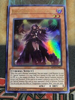 Yugioh Knightmare Corrupotr Iblee MP19-EN011 Ultra Rare 1st Edition IN HAND!