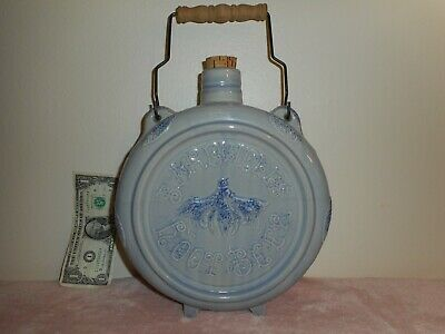 """Heavy Vintage? Stoneware 12"""" X 10"""" X 4"""" Bardwell's Root Beer Cork Top Canteen"""
