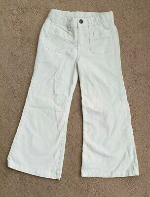 Lovely Baby Gap White Fine Cord Boot Leg Trousers Age 5 VGC
