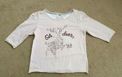 Gorgeous Pink Fat Face Sleep Wear Oh Deer Age 6 to 7 VGC