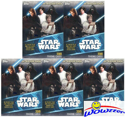 (5) 2019 Topps Star Wars Skywalkers Saga EXCLUSIVE Blaster Box-5 NAMEPLATE PATCH