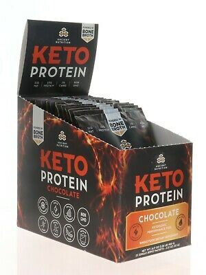 KETO PROTEIN CHOCOLATE, 15 Single Serve Packets - Ancient Nutrition   (b30)