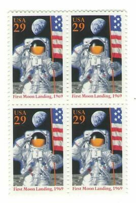 Apollo 11 25th Anniv First Man on Moon Neil Armstrong 23 Year Old Stamp Block