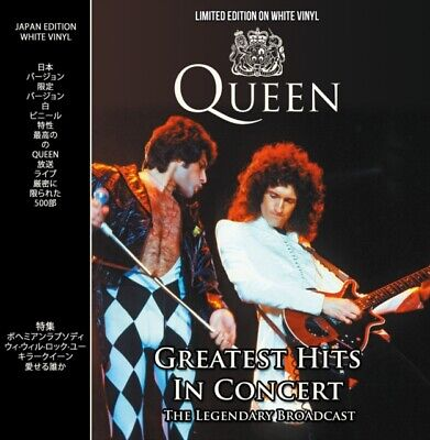 Queen Greatest Hits In Concert WHITE VINYL LP CPLVNY336 NEW UK Stock Gift Idea