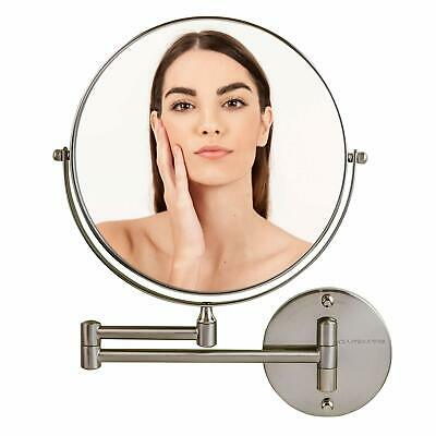 Ovente Wall Mount Mirror, 1X/7X and 1X10X Magnification, 9 Inch MNLFW90