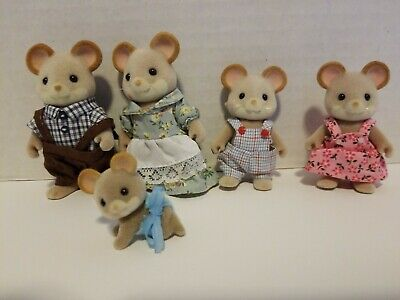 Sylvanian Families BROWN MOUSE FAMILY Epoch 5218 Calico Critters