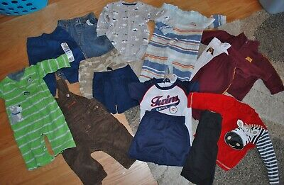 Summer Outfit Lot of 15: Pull-On Shorts Bodysuit Romper Boys 6-9M Carters TCP