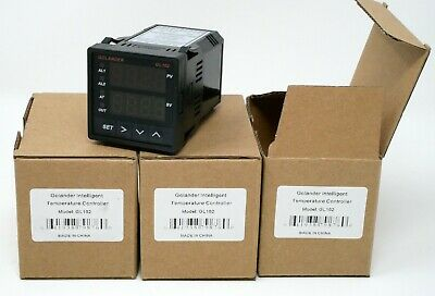 Lot of 3 - PID, ON/OFF, MANUAL TEMPERATURE CONTROLLER, 1/16 DIN