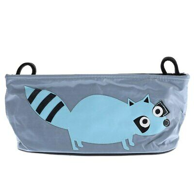 Playpen Baby® Gray Embroidered Blue Raccoon Hanging Stroller Bag
