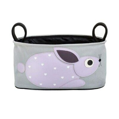Playpen Baby® Gray Embroidered Purple Bunny Hanging Stroller Bag