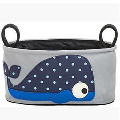 Playpen Baby® Gray Embroidered Blue Whale Hanging Stroller Bag