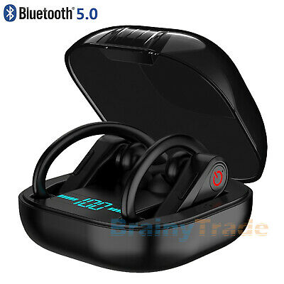 Totally Wireless Sport Earbuds Bluetooth 5.0 Headphones & Power PRO Charging Box