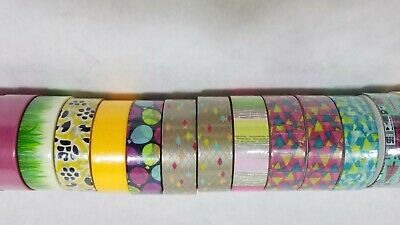 Scotch Expressions Washi Craft Tape Rolls Assorted Colors Lot of 19