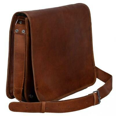 Men's Retro Leather Messenger Shoulder Bag Satchel Laptop Briefcase Attache Bag
