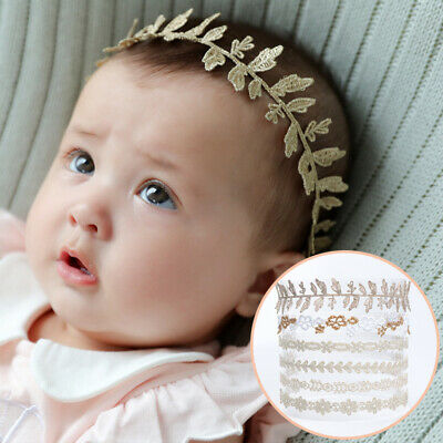 Kids Baby Girl Cute Toddler Lace Flower Hair Band Headband Accessories Headwear