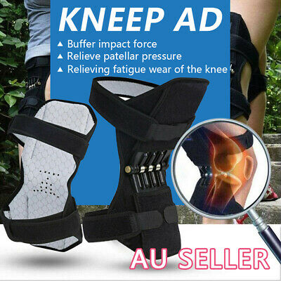POWER Knee Joint Support Brace Lift Booster Leg Pad Spring Force Pain Relief