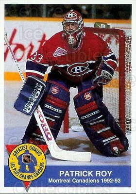 1993-94 High Liner Greatest Goalies #1 Patrick Roy