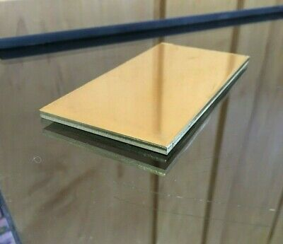 """1/8 BRASS SHEET PLATE NEW 2""""X4"""" .125 Thick *CUSTOM 1/8 SIZES AVAILABLE*"""