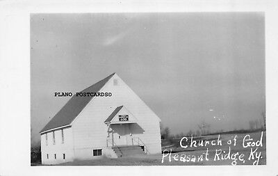 "Pleasant Ridge, Kentucky ""Church Of God"" Rppc Real Photo Postcard"