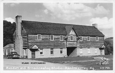 "Renfro Valley, Kentucky ""Museum & Broadcasting Studio"" Rppc Real Photo Postcard"