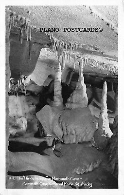 "Mammouth Cave, Kentucky ""The Hindu Temple"""" Rppc Real Photo Postcard"