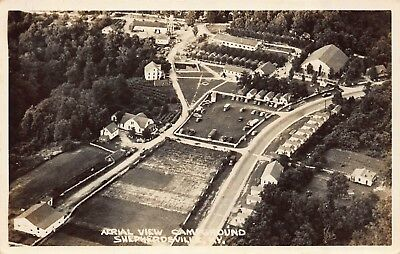 "Shepherdsville, Kentucky ""Aerial View Of The Campground"" Rppc  Photo Postcard"