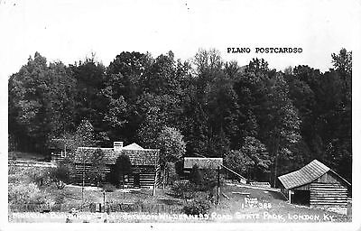 "London, Kentucky ""Museum-Levi Jackson State Park"" Rppc Real Photo Postcard"