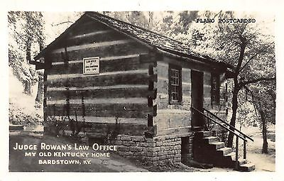 "Bardstown, Kentucky ""Judge Rowan's Law Office"" Rppc Real Photo Postcard"