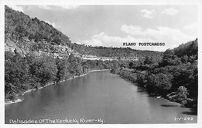 "Kentucy, ""Palisades Of The Kentucky River"" Rppc Real Photo Postcard"