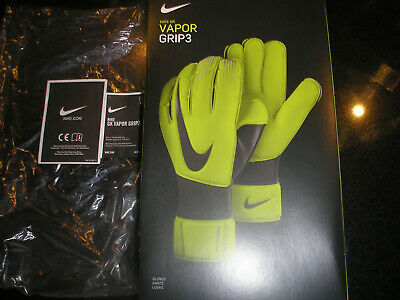 Nike Gk Vapor Grip 3 Elite Goalkeeper Gloves Size 8 Model Gs0352 702 Rrp £90