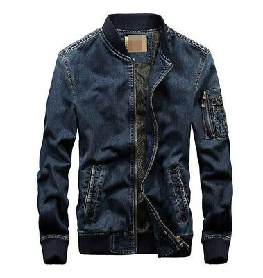 Men's Fashion Punk Retro Blue Jean Jacket Young Boys Casual Denim Coat Newest