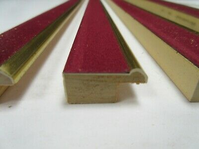 4 x 1 m lengths (4m) of 25mm Burgundy Velvet Fillet Slip Picture Frame Moulding