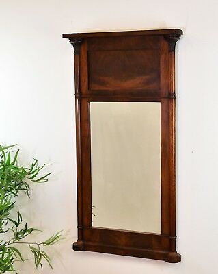 19th CENTURY MAHOGANY PIER MIRROR Antique Regency