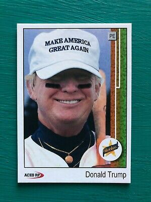 DONALD TRUMP 1989 Upper Deck Griffey Baseball Card Make America Great Again MAGA