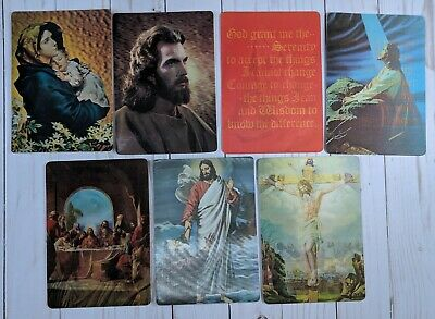 Vintage Lenticular 7 Postcard LOT Jesus Christian Religious Bible MultiMotion